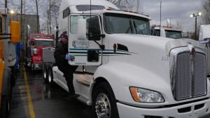 Randy Bath from Mr Locksmith to the rescue to rekey five (5) 2015 Kenworth Trucks