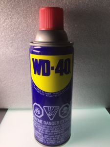 WD-40 is a penetrating oil and water displacement spray