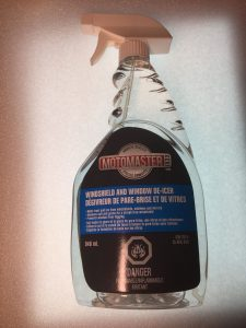Windshield De-icer for Frozen Locks or Doors